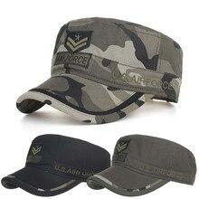 baseball cap men gorra hombre baseball cap Women Hat Summer Cotton Military Caps Cadet Unique Design Vintage Flat Top Hat Y611