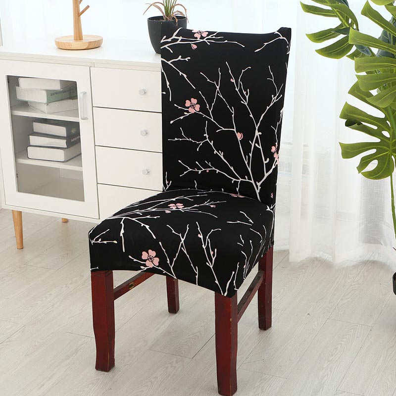 Hotel Home Kitchen Stretch Chair Cover Stool Polyester Decor Case Chic 7 Colors
