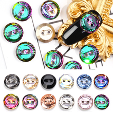 5pcs Nail Crystal Buttons Rhinestones Colorful Glitter 2 Holes Sewing Button For Garment Crafts DIY Accessories