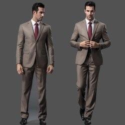 Мужчины Наборы костюм Slim Fit Смокинг Формальный Мода деловой Костюм Марка  Blazer Свадебный Костюм Для Мужчин 42c6bbf2961