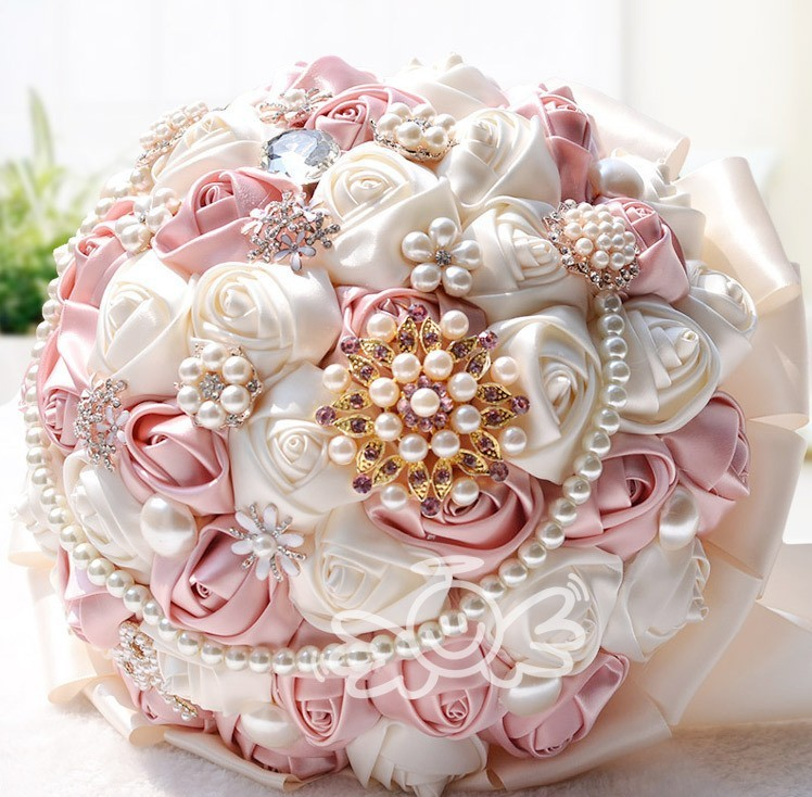 New Arrival Gorgeous Wedding Flowers Bridal Bouquets Pearl Crystal