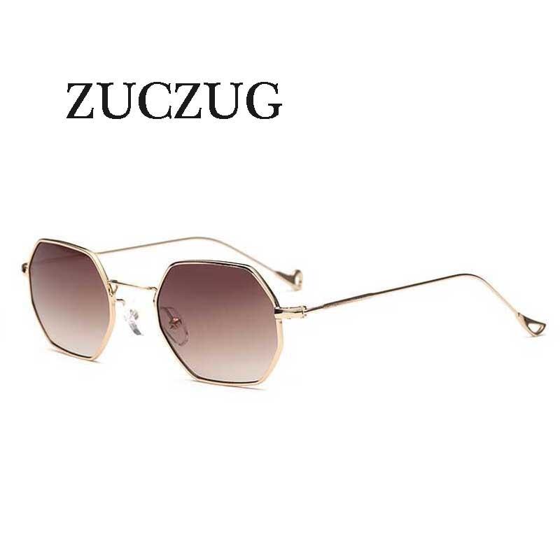 24dbfe4759942 ZUCZUG óculos Polígono Hexagonal hexágono lente dos óculos de sol dos  homens das mulheres Designer de Marca de luxo do vintage de metal armação  Dos Óculos ...