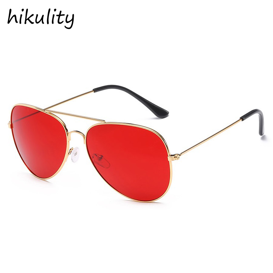 Vintage Red Glasses Female 2018 Aviator Sunglasses Women Brand Designer Retro Gradient Pilot Sun Glasses for Women Sunglasses