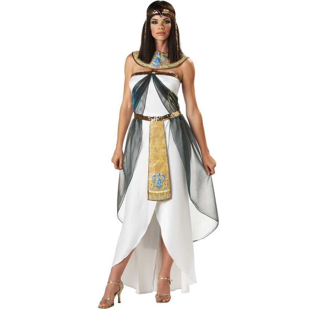 UTMEON Sexy Women's Sleeveless Arab Queen Of Egypt Cleopatra Costume Fancy Dress Halloween Egyptian Costume Ethnic Clothing