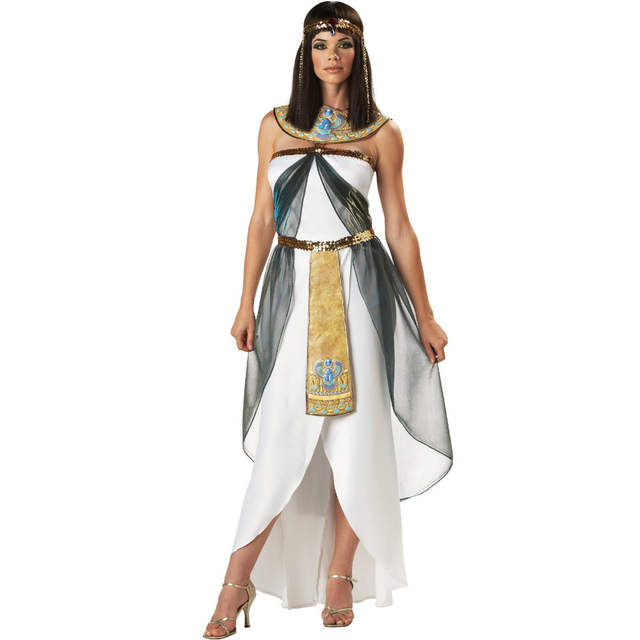Placeholder UTMEON Sexy Womenu0027s Sleeveless Arab Queen Of Egypt Cleopatra  Costume Fancy Dress Halloween Egyptian Costume Ethnic