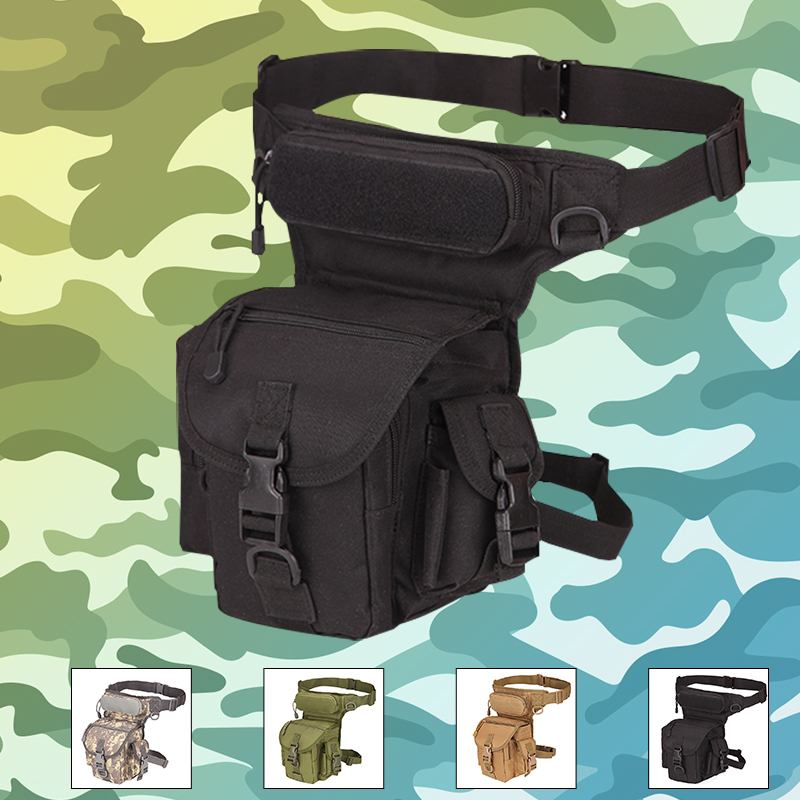 Tactical Waist Bag Drop Leg Bags Tool Camping Hiking Trekking Military Shoulder Saddle Oxford Cloth Multi-function Pack