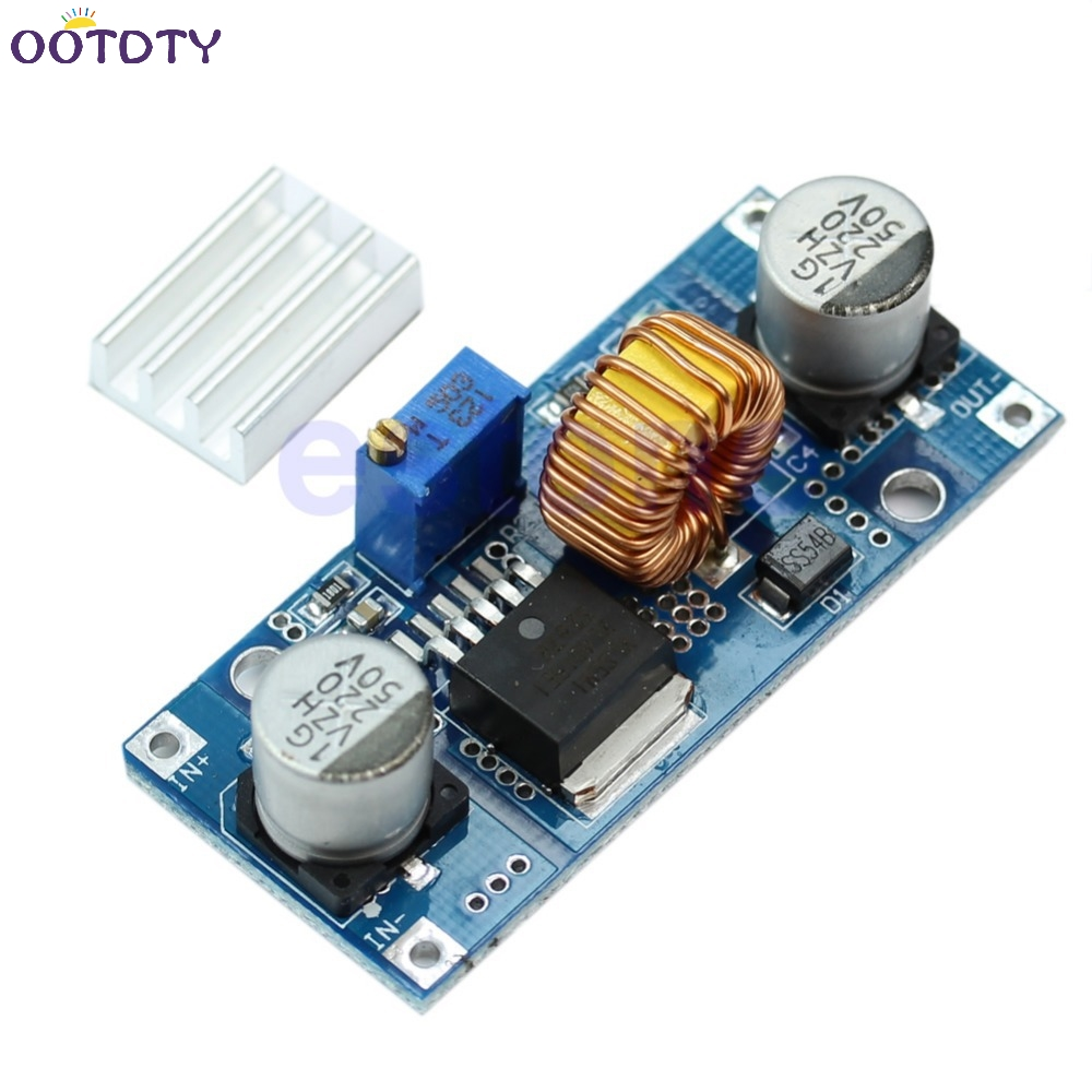 Step Down Power Supply Module 24V 12V 9V 5VDC to DC 4V-38V to 1.25V-36V 5A image