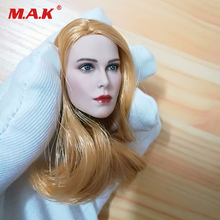1:6 Scale Beauty Female Head Sculpt W Blonde Hair Head Model Toy For 12 Female Pale Body Collection Doll Toys Gift