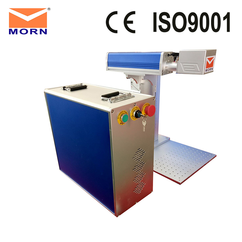 Mini portable fiber laser engraving and cutting machine for jewerly decorations with CAS 50 watt laser source and 150mm marking