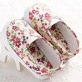 Nuevo estilo de zapatos infantiles niñas flora bebé mocasines de lona primeros caminante zapatos Infantiles de los bebés casuales Anti-skip