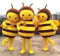 Маскарадный костюм пчелы желтый Пчела талисман взрослый персонаж костюм косплей для Хэллоуина Вечерние