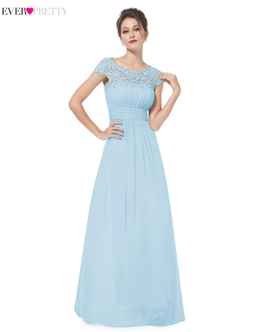 Clearance Sale 2017 Elegant Long Evening Dresses With Lace Appliques Ever Pretty HE09993 Women Party