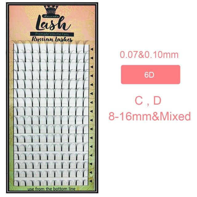 MAS Lashes 16 Lines Premade Volume Fans 3d/4d/5d/6d Lash Russian Volume Eyelash Extensions Pre made Lash Extension Faux Mink 5