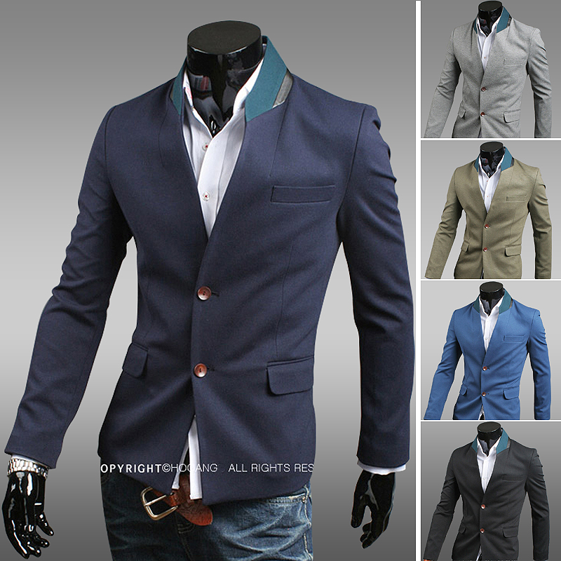 Mens Slim Fit Blazer Jackets Photo Album - Reikian