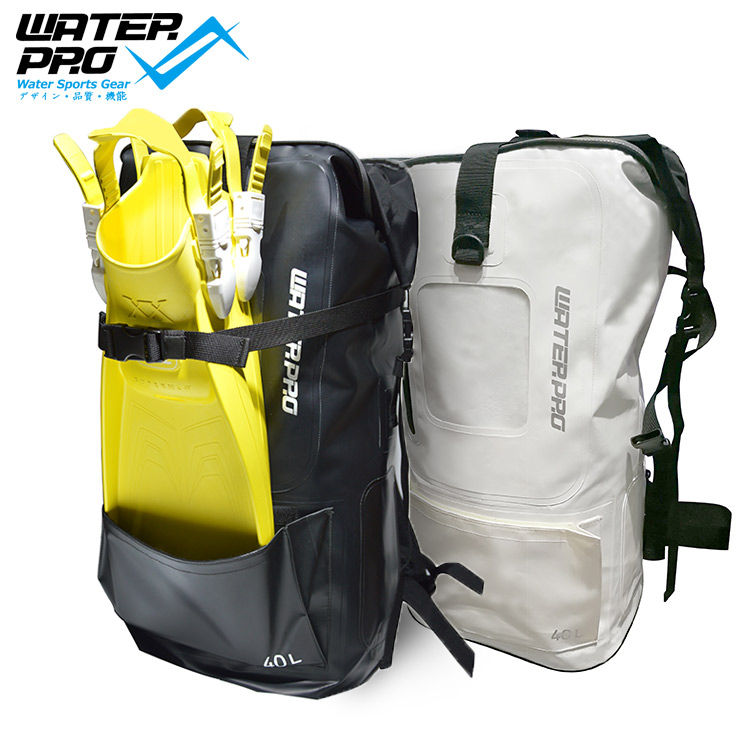 Water Pro Printed 40L Dry Bag Waterproof Bag DIving Fins Bag Adjustable Water Sports Scuba Diving Snorkeling