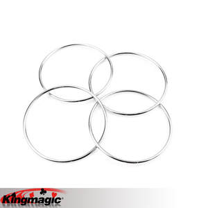 4 Rings Linking Children Kids Magic Tricks Toys Props
