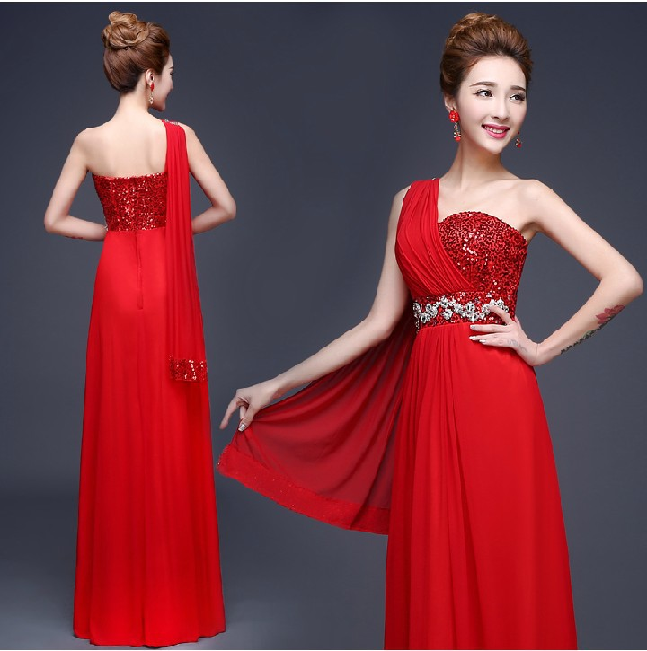 Excelente Red One Shoulder Cocktail Dress Cresta - Vestido de Novia ...
