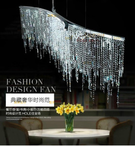 Image 2 - Crystal Chandeliers LED Bar Front Desk Crystal Lamp Hyatt Living Room Bedroom Aisle Modern Postmodern Restaurant lights