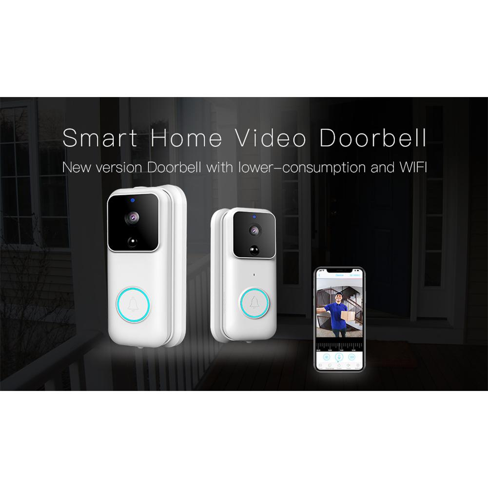 1080P Smart WiFi Video Doorbell Wide Angle Camera With Night Vision Door Bell Wireless Security Camera WiFi Doorbell R25