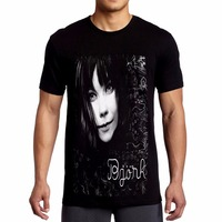 Tshirt Homme 2018 New Bjork Face Indie T ShirtMen T Shirt Great Quality Funny Man CottonHip