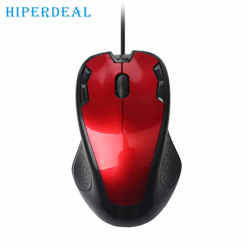 Good Sale Luxury 1800 DPI USB Wired Optical Gaming Mice Mouse For PC Laptop Jan 22