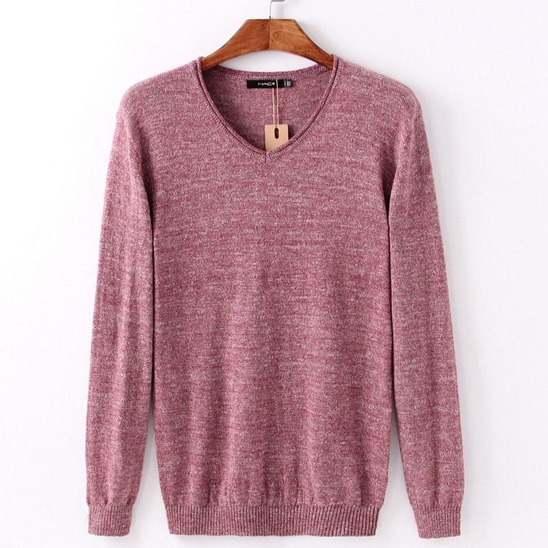 PORT LOTUS font b Men b font font b Sweater b font Wool Cotton Striped Pullover