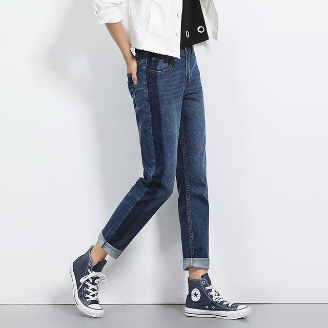 4bcdc02a9679e New fashion Plus size women joker jeans pants Big yards loose BF wind  straight boyfriend overdyed female jeans woman pants 5XL L