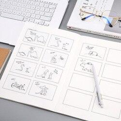Kreatywny film historia Notebook cztery komiks szkicownik do malowania pamiętnik szkicownik papiernicze artykuły szkolne