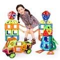 34 Pcs Magnetic Designer de Construção Tijolos de Brinquedo Crianças Brinquedos Educativos Brinquedos de Plástico Criativo Iluminai Blocos de Construção Magnético