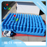 Cheap trampoline inflatable stunt airbag with fireproof,inflatable freestyle jumping pillow for sport
