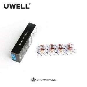 Image 3 - Uwell 4 Cái/gói Crown 4 Thay Thế Cuộn Dây Kép SS904L & Lưới UN2 Cuộn Dây Đầu 0.2/0.23/0.4ohm Cho crown 4 Thuốc Lá Điện Tử Bình