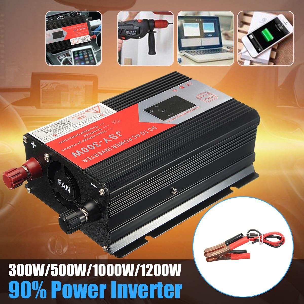 Sine Wave 1200W Car Inverter DC 12V To AC 220V Voltage Power Converter Adapter Charger Transformer Inversor 12V 220V