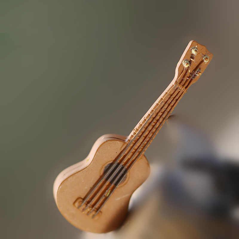 Miniatura Da Guitarra De Fadas Jardim Casas Casa Decoração Minecraft Micro Paisagismo Decoração DIY Acessórios