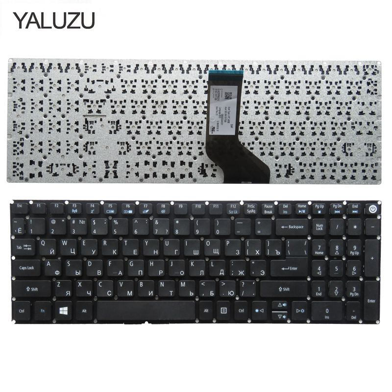 YALUZU RU Russian Laptop Keyboard For Acer Aspire E5-573 E5-573T E5-573TG E5-573G E5-722 E15 E5-582P 507H 56AV 507H 54G6 F5-572