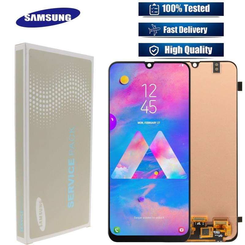 オリジナル 6.4 ''スーパー AMOLED サムスンギャラクシー M30 2019 ディスプレイ M305F SM M305F タッチスクリーンデジタイザアセンブリの交換  グループ上の 携帯電話 & 電気通信 からの 携帯電話用液晶ディスプレイ の中 1