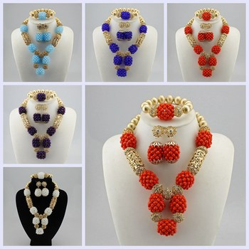 High Quality Tribal Nigerian African Stones Beads Decor For Women Wedding Party Bridal Neck Decoration 5 Colours available CK70