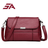 SA 2018 Simple Style Women Leather Handbags Women Bag Female Fashion Crossbody Bags Designer Small Messenger