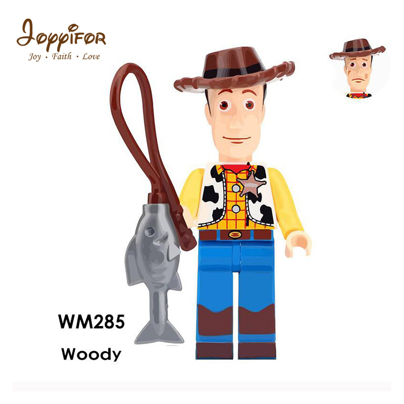 Joyyifor 2018 New Lot Compatible Toy Story LegoINGlys Woody Buzz Lightyear Statue Of Liberty Rex Jessie Chen Gift To Children toy story and beyond jessie costume toy story3 child buzz costume cowgirl toy story jessie tunic tank dress toddler dresses