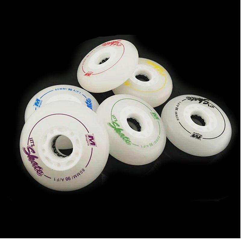 スケートローラー、ローラースケートのためのLed点滅ローラー、SEBAスケート靴のための90A 72/76 / 80mmスラロームスライディングホイール、I13