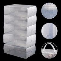 NHBR ROYAUME-UNI 5 x En Plastique Transparent Mens Chaussures Boîtes De Rangement Des Conteneurs Formateurs Taille 8 9 10 11