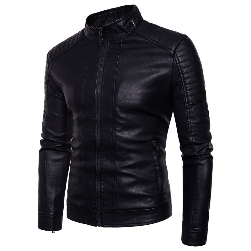 Leather Jacket Men Soft Sheepskin Business Casual Coats New Spring Autumn Fashion Male Motorcycle Biker Faux Leather Jackets 3XL