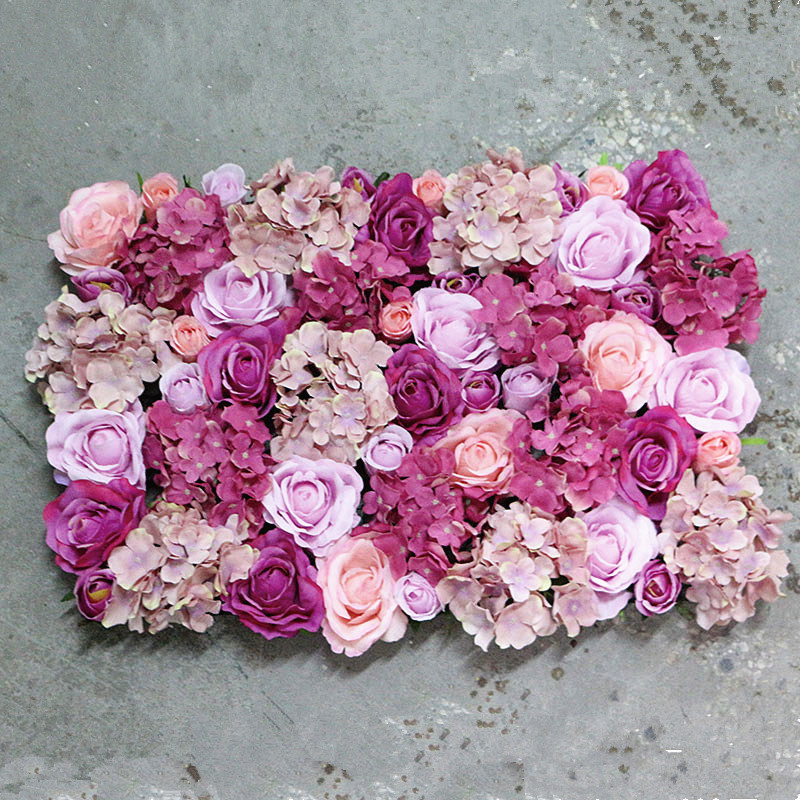 Flone Wedding Decoration Silk Roses Hydrangea Flowers Wall Wedding Background Decoration Arch Flower Row Decoration (6)