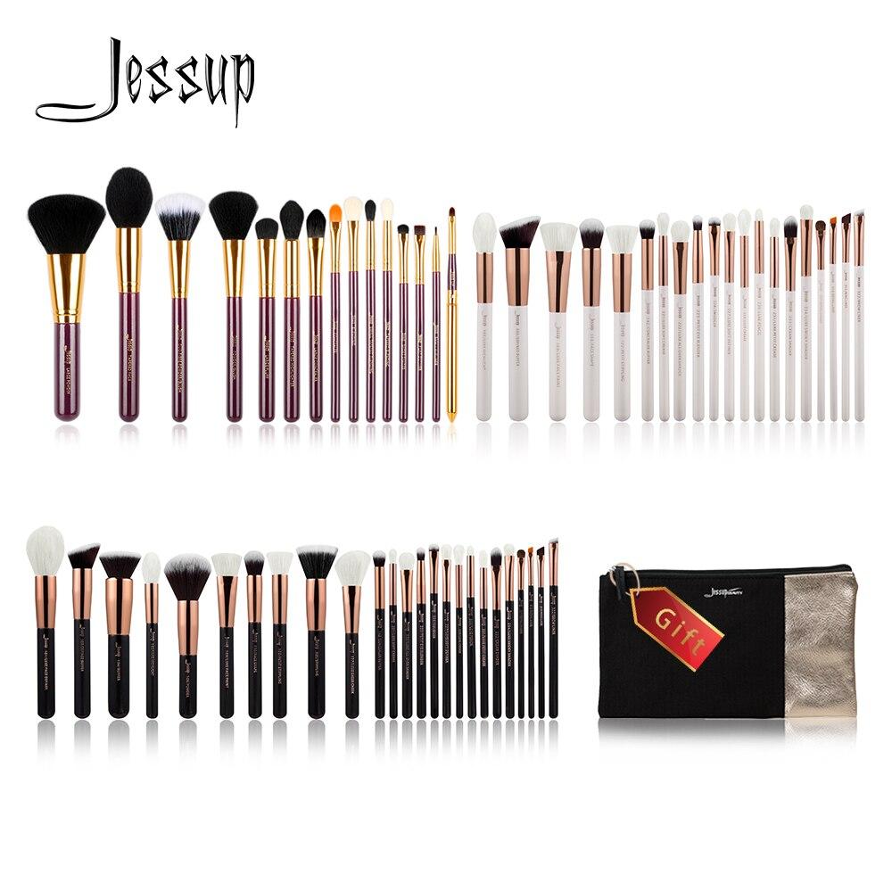 Джессап купить 3 получить 1 подарок набор кистей для макияжа пудра Make up Brush Инструменты Тени для век подводка для губ косметичка путешествия