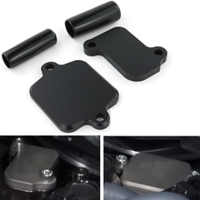 Motorcycle Smog Block Off Plates Covers For Yamaha MT09 MT-09 FZ-09 FZ09 FJ-09 TRACER YXZ1000R XSR900 CNC Billet Aluminum