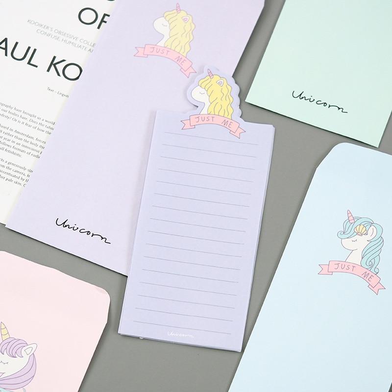 Unicorn Young Girl Envelope Letter Paper Message Card Letter Stationary Storage Paper Gift Paper Envelopes