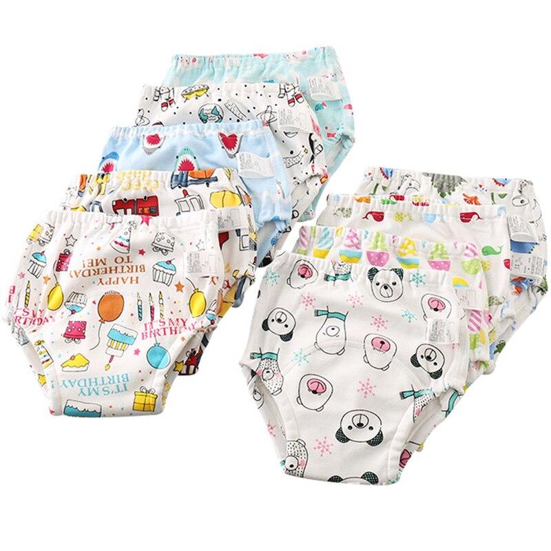 Baby Boy Girls Underwear Briefs Breathable Cotton Newborn Cartoon Panties Pants