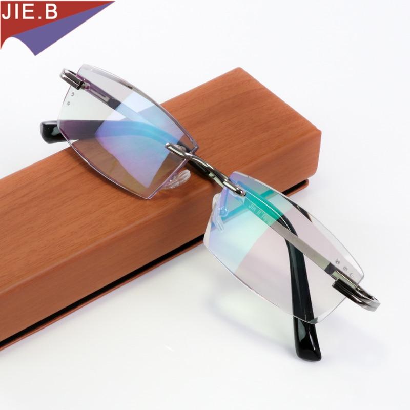 Kualitas mewah berlian cut pemangkasan kacamata baca, Pria kacamata tanpa bingkai, Presbiopia kacamata hyperopia, Presbyopic kacamata
