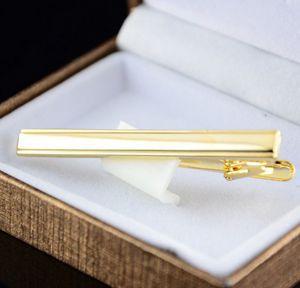 High Quality 1Pc Gold Color Men Trendy Tie Necktie Clip Pin Stickpin Cufflinks Fashion Tie Clips