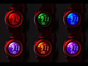 Image 4 - Fashionohsen Digitale Kind Kids Horloge Kind Meisjes Siliconen Band 50M Zwemmen Dive Sport Horloge Jongens 7 Kleuren Wekker gift