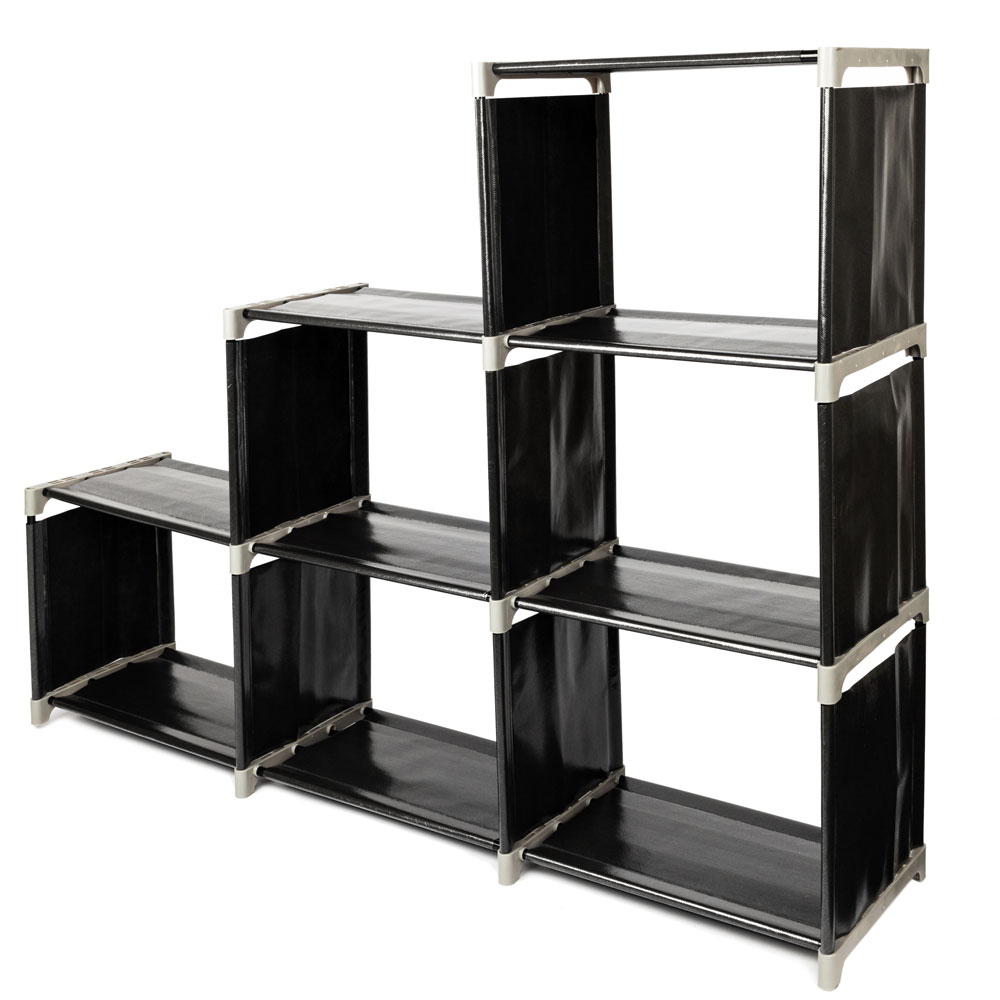 3 Tier Storage Cube Closet Organizer Shelf 6/9 Cube Cabinet Bookcase  Storage Black Only Ship To US Free Shipping In Storage Holders U0026 Racks From  Home ...